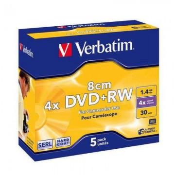poza DVD+RW, 1.4GB, 4X, format mini, carcasa jewel, VERBATIM Matt Silver