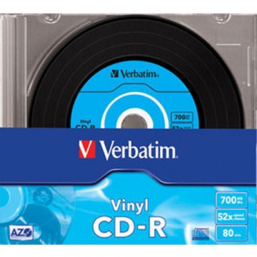 poza CD-R, 700MB, 52X, carcasa slim, VERBATIM AZO Data Vinyl