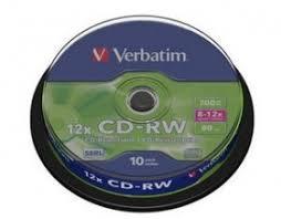 poza CD-RW, 700MB, 8-12X, 10 buc/bulk, VERBATIM