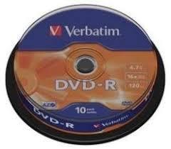 poza DVD-R, 4.7GB, 16X, 10 buc/bulk, VERBATIM Matt Silver
