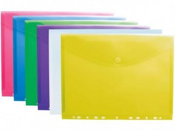 poza Folie protectie A4, inchidere cu arici, 12 buc/set TARIFOLD - diverse culori