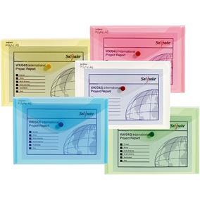 poza Mapa plastic cu buton A5 culori asortate clasice SNOPAKE