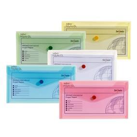 poza Mapa plastic cu buton DL culori asortate clasice SNOPAKE