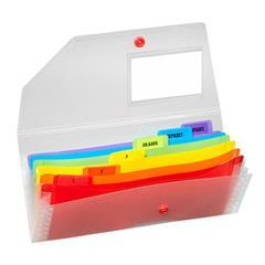 poza Mapa plastic cu clip si 6 compartimente DL transparenta SNOPAKE