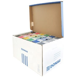poza Container arhivare cu capac deschidere superioara, DONAU - albastru/alb