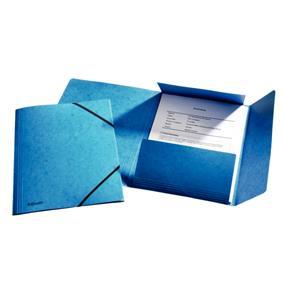 poza Mapa LUX din carton cu elastic, ESSELTE - albastru