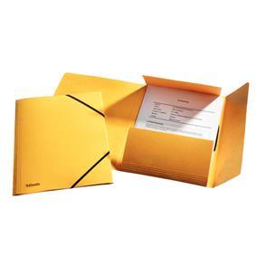 poza Mapa LUX din carton cu elastic, ESSELTE - galben