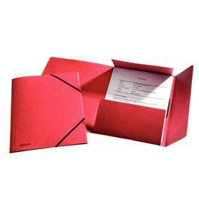 poza Mapa LUX din carton cu elastic, ESSELTE - orange