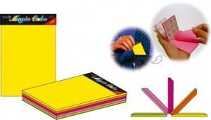 poza Magic cube color  76 x 50mm, 125 file, HOPAX - 5 culori neon