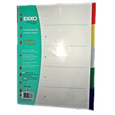 poza Separator plastic 5 culori EXXO