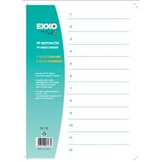 poza Separator plastic numere 1-12 EXXO