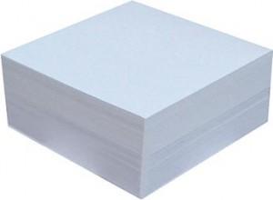poza Cub hartie alb 9 x 9cm, 500 coli, hartie 70g, folie plastic