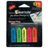 poza Film index plastic. 25 file/pad. 4 culori neon.45X12mm, 45x25mm. Pentru organizer  HOPAX