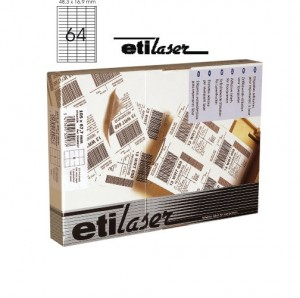poza Etichete autoadezive  16/A4, 105 x 37 mm, 200 coli/top, ETILASER - albe