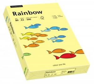 poza Hartie color, A3, 80 g/mp, 500 coli/top, galben deschis (light yellow), RAINBOW
